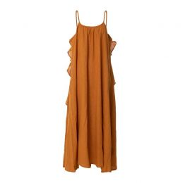 Syros Ochre Earth Dress - Organic Cotton