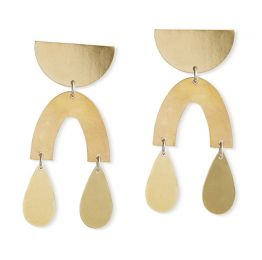 Teardrop Brass Earrings