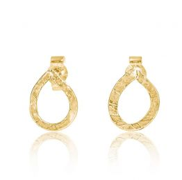 Teardrop Stud Earrings 9k Gold | Lily Flo Jewellery