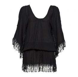 The Day Dreamer Short Kaftan Black