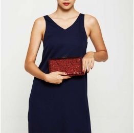 Tosca Red Sequin Clutch