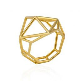TRE Ring in 14k Yellow Gold | OSYLIA London