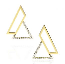 Triangle Earrings in 14k Yellow Gold | OSYLIA London