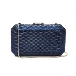 Veralyn Midnight Blue Crystal Clutch