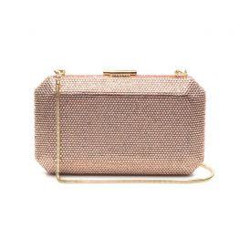 Veralyn Rose Gold Crystal Clutch
