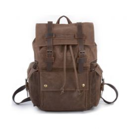 Vintage Style Waxed Canvas Backpack
