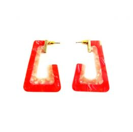 The Canyon Earring Red