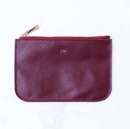 Zip Leather Pouch