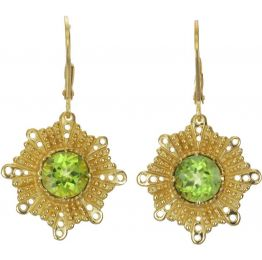 Zoe & Morgan with Peridot Grace Earrings
