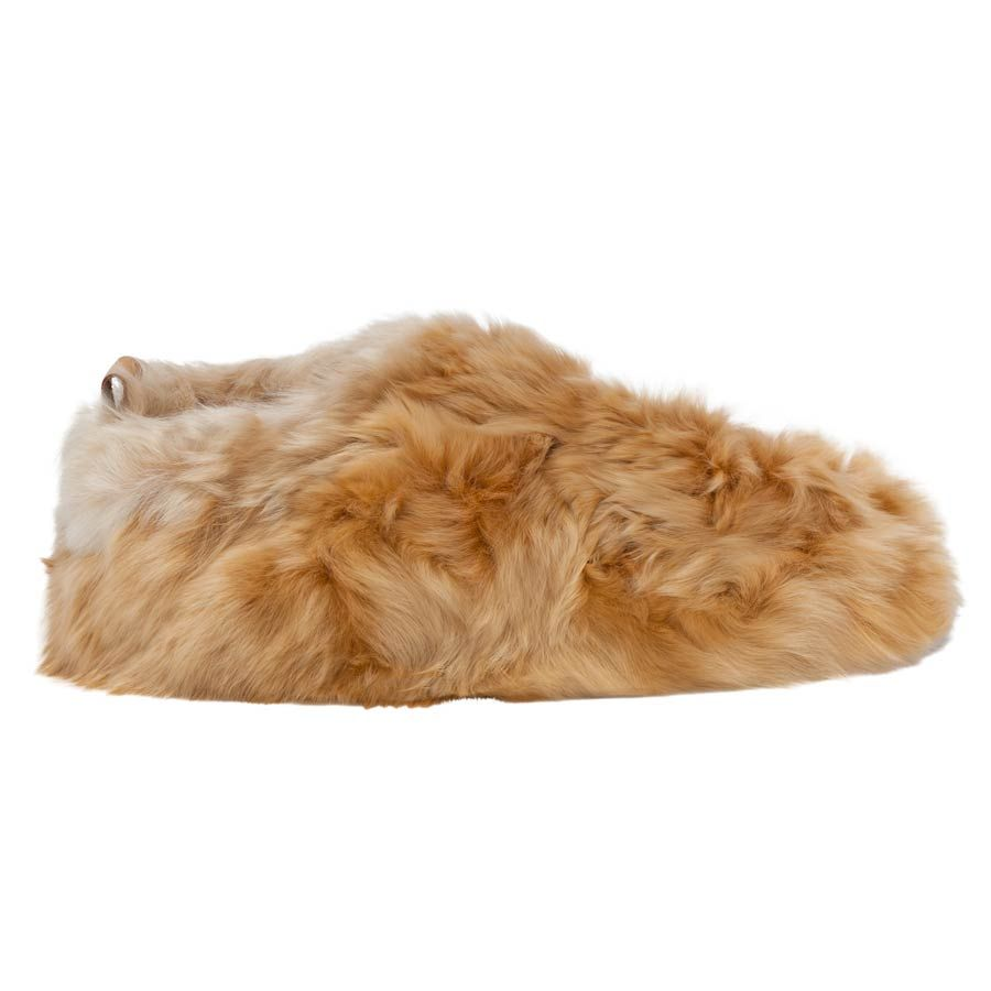 762a0320a697 Honey Swirl Alpaca Fur Slippers
