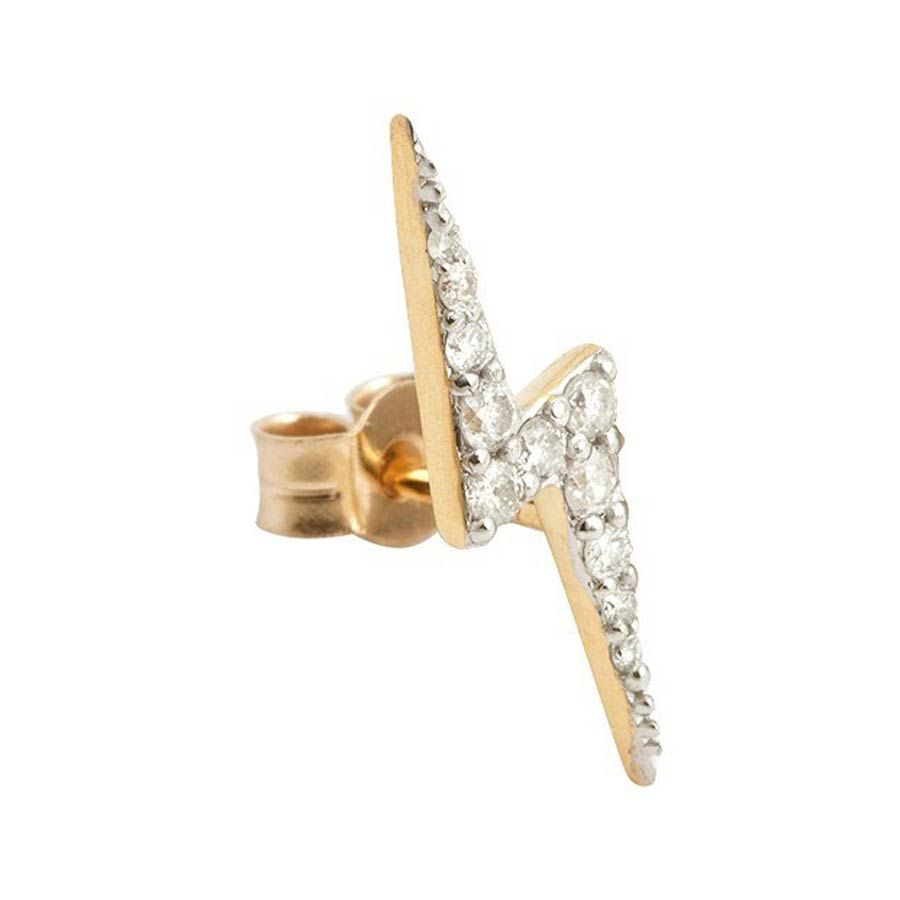 26c6a6576 Zap Gold Stud Earring with Diamonds by Zoe & Morgan Fine Jewellery ...