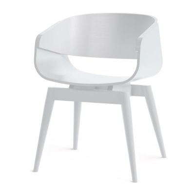 4th Armchair Color in White