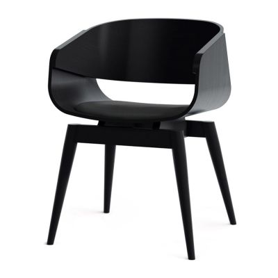 4th Armchair Color Soft in Black