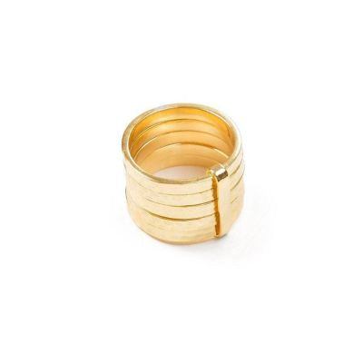 5 Stack Ring 18ct Gold Vermeil
