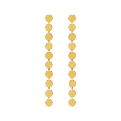 AKALIS Maharanee Multi Disc 18k Gold Plated Earrings | AKALIS London