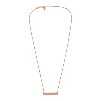 AKALiS Rose Gold ID Necklace with Garnet