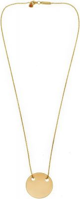 AKALiS Engravable Single Disc Gold Pendent Necklace