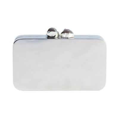 Aloft Clutch | Silver with Black Clasp | KAYU Design
