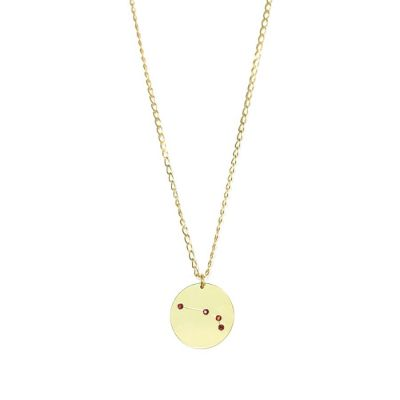 Aries 24k gold Swarovski necklace