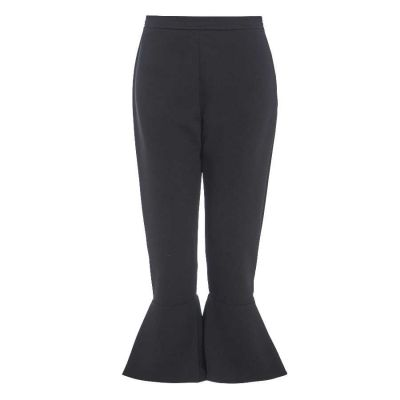 ASHLEE Flared frill high waisted trousers