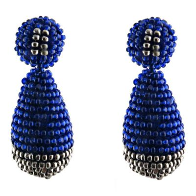 Blue and Silver Play Earrings | Begada