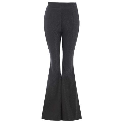 COBIE High waisted flared black trousers