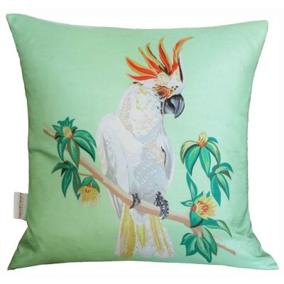 Cockatoo Mint Cushion | Chloe Croft