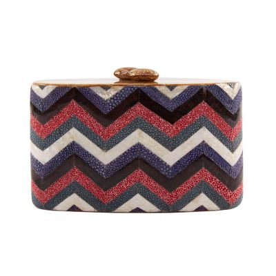 Daisy Z Shargreen and Mother of Pearl Minaudiere Clutch | Serpui Marie