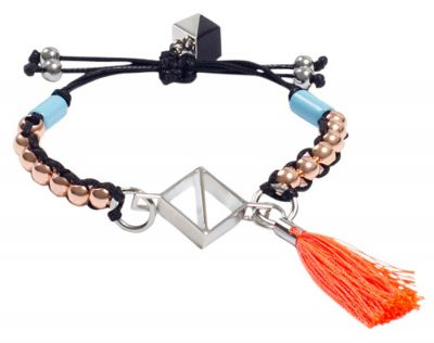 NOCTURNE Elda Orange Multicolour Friendship Bracelet