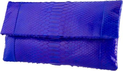 Envelope Electric Blue Python Clutch