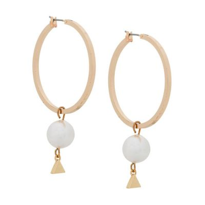 Pearl Hoop Earrings | Coup de Coeur