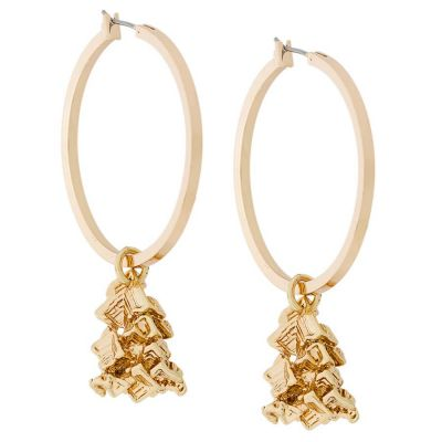 Gold Vortex Hoop Earrings | Coup De Coeur