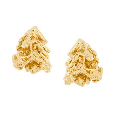 Yellow Gold Vortex Stud Earrings | Coup De Coeur