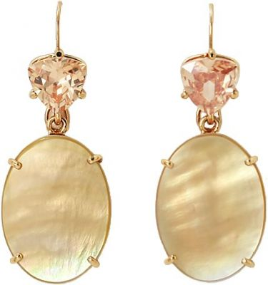 Isharya Gold Mother of Pearl Gemini Earrings
