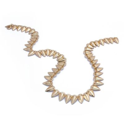 Grain Link Gold Necklace | Rahya Jewelrey Design