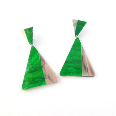 The Green Triangle earrings