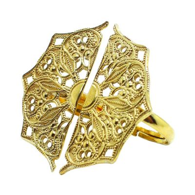 Half Moon Mandala 18k Gold Plated Rings | Lucy Ashton