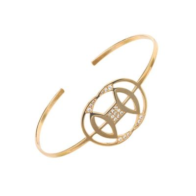Helix Bracelet 18K Rose Gold, White Diamonds | Afew Jewels