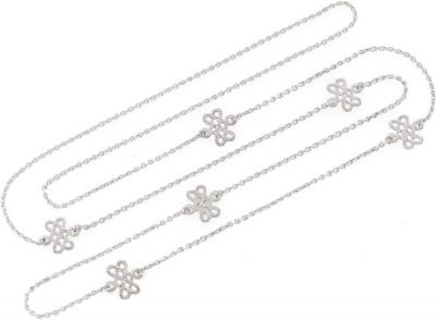 Tulola Infinity Knot White Platinum over Silver Necklace