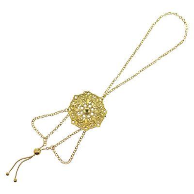 Mandala Hand 18k Gold Plated Chain | Lucy Ashton