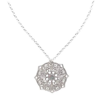 Mandala Sterling Silver Necklace | Lucy Ashton