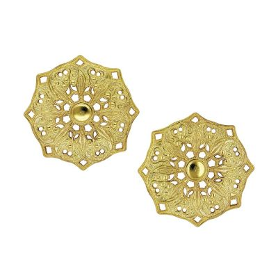 Mandala 18k Gold Plated Stud Earrings | Lucy Ashton