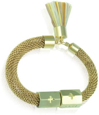 Holst + Lee Mesh Tassel Gold Bracelet