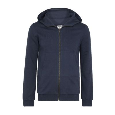 Navy Brushed Back Cotton Hood