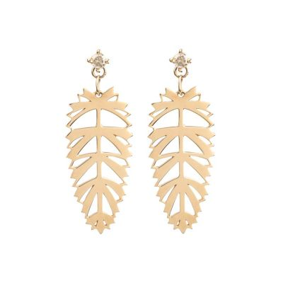 Palmera Earrings 18K Rose Gold | Afew Jewels