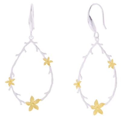POTC Jewellery Silver and Gold Plated Drop Earrings