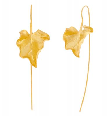 POTC Jewellery Unique Gold Plated Leaf Stem Earrings