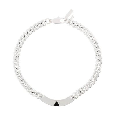 Pyramid Silver Plated Collar ID | Coup De Coeur