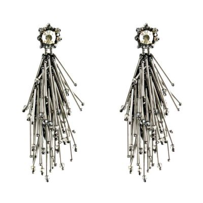 Riviera Earrings (Gunmetal) | Begada