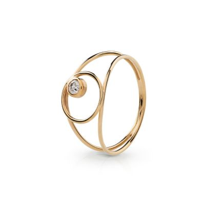 Maira Anita Fine Jewellery Solitaire Gold and Diamond Ring
